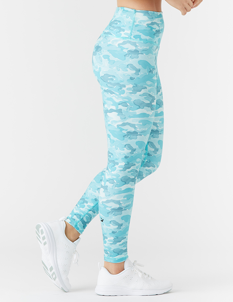 High Power Legging Print: H2O Camo