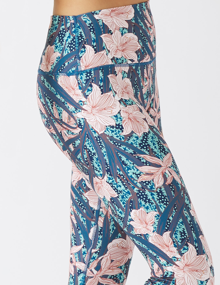 High Power Legging Print: Botanical Lily