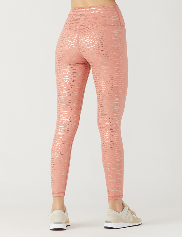 High Power Legging Print: Canyon Stone Pebble Gloss