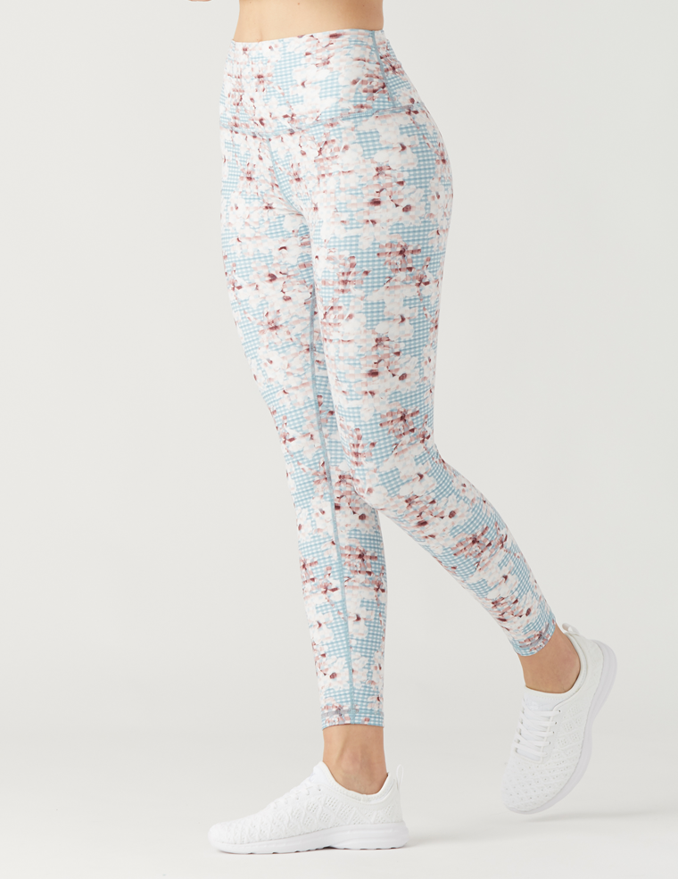 High Power Legging Print: Floral Plaid
