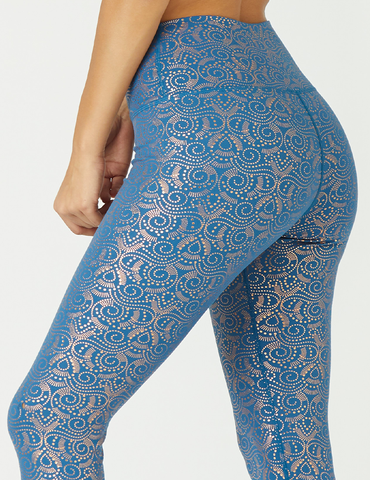 High Power Legging Print: Moroccan Blue Royal Tide Gloss