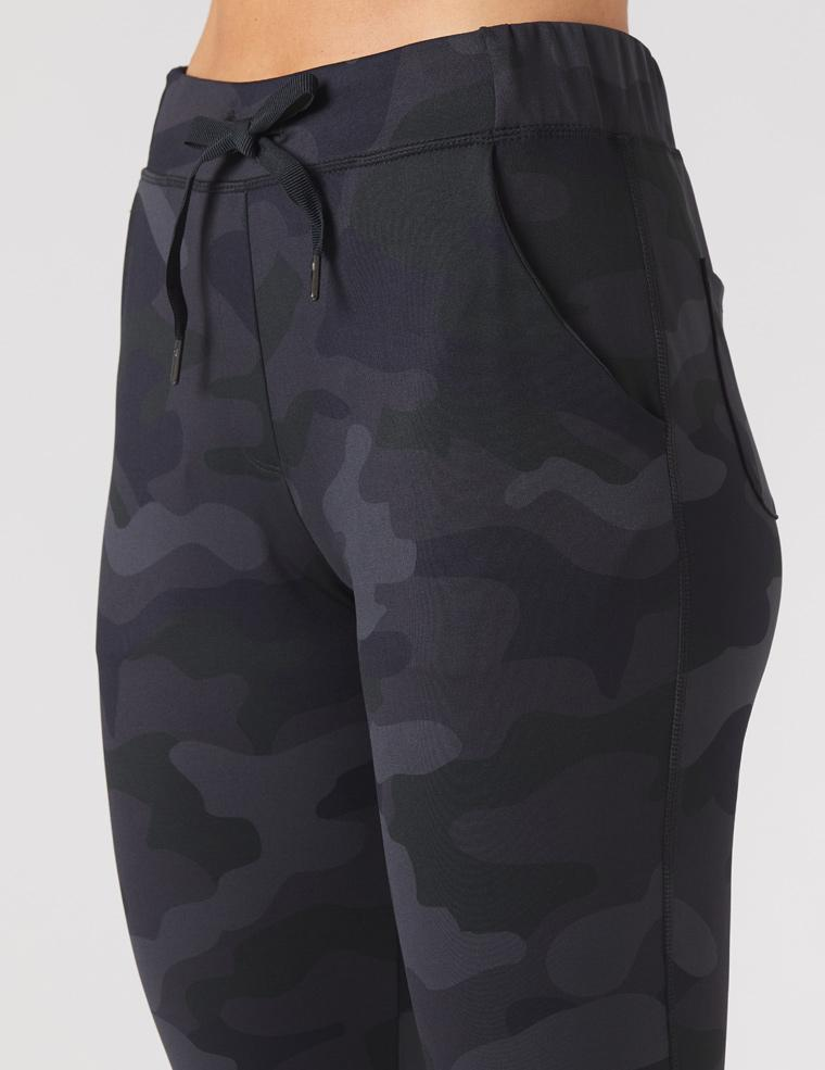 Jet Set Crop: Black Camo Print