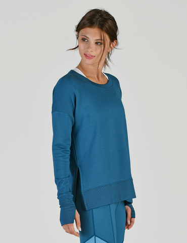 Lounge Long Sleeve: Moroccan Blue