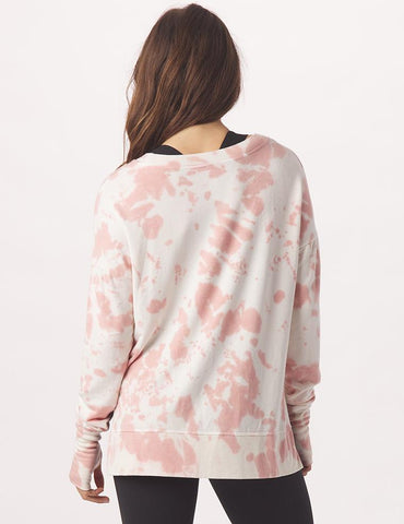 Lounge Long Sleeve: Clay Tie Dye