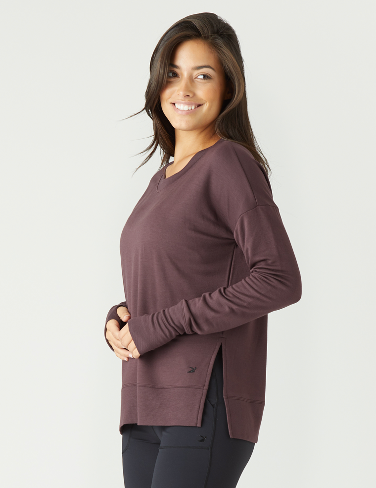 Lounge Long Sleeve: Deep Plum