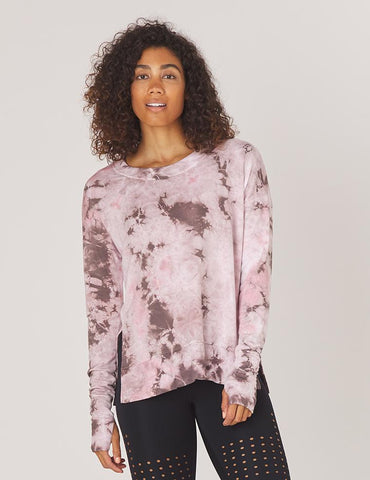 Lounge Long Sleeve: Bone Tie-Dye
