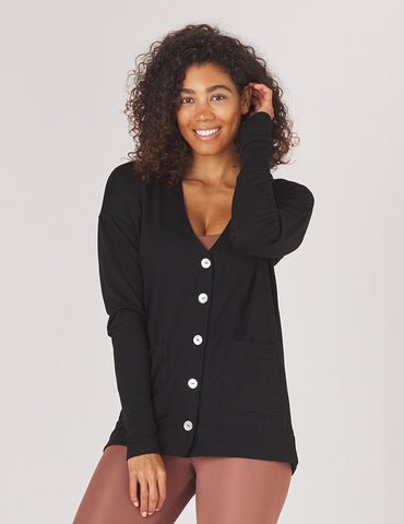 Lounge Cardigan: Black