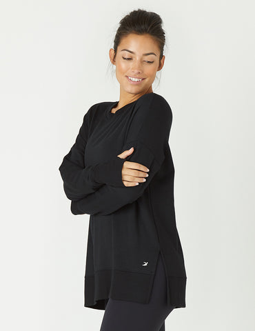 Lounge Long Sleeve: Black