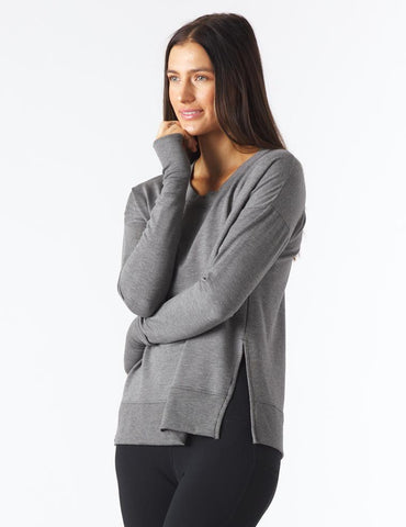 Lounge Long Sleeve: Charcoal Heather