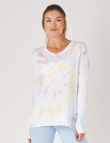 Lounge Long Sleeve: Rainbow Tie Dye