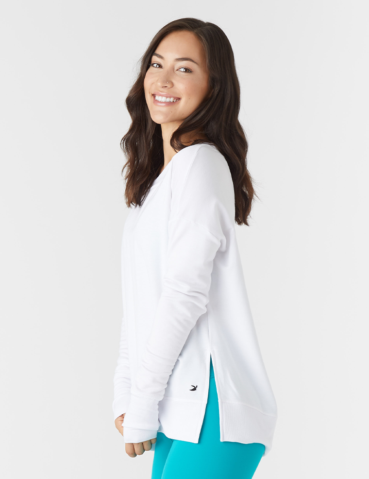 Lounge Long Sleeve: White