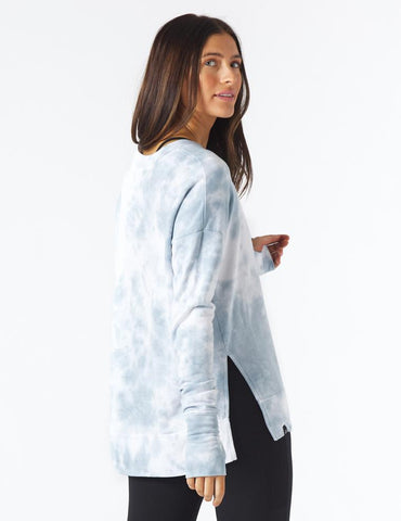 Lounge Long Sleeve: French Blue Tie-Dye