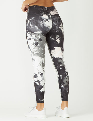 High Power Legging Print: Marble Splash - Online Only
