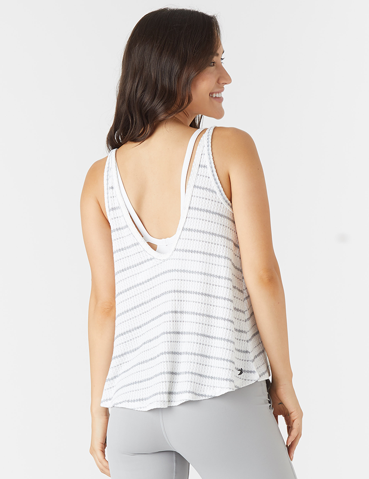 Movement Tank: White Stripe