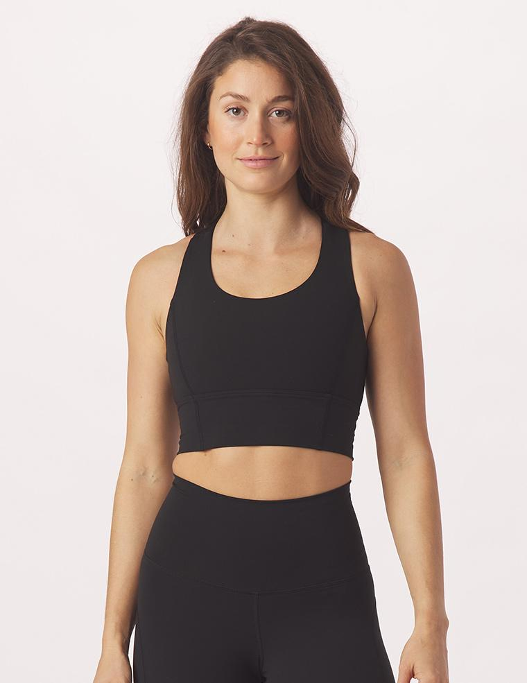 One Crop Bra: Black