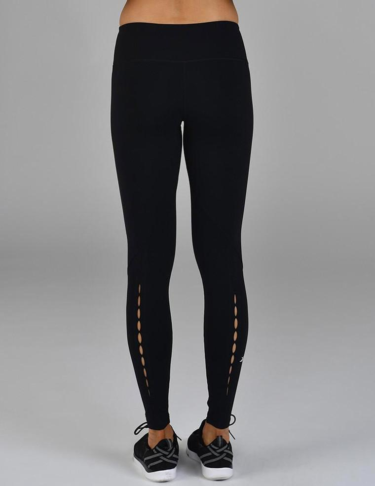 Peek-A-Boo Legging: Black