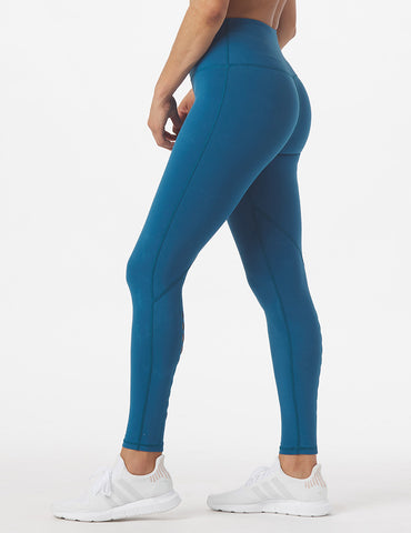 High Waist Peek-A-Boo Legging: Moroccan Blue