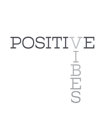 Power Tank: Positive Vibes White