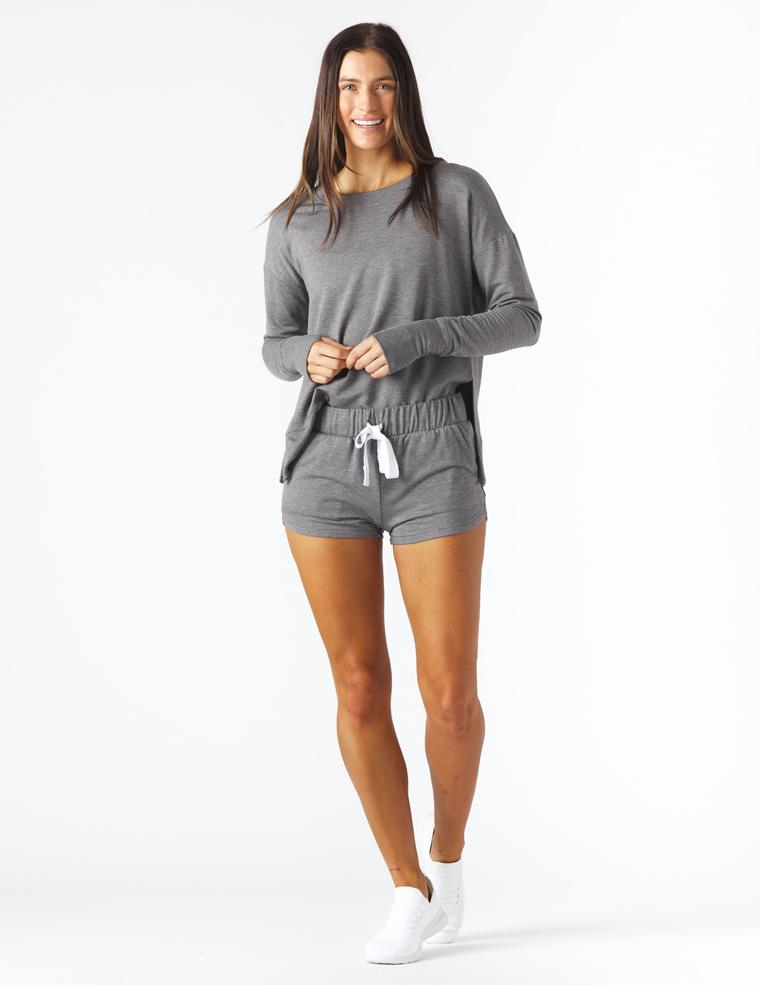 Powder Short: Charcoal Heather