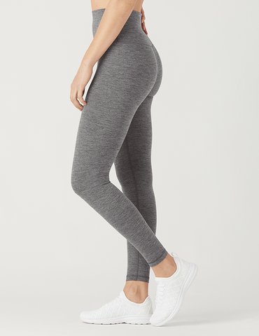 High Waist Pure Legging: Stone Grey Melange