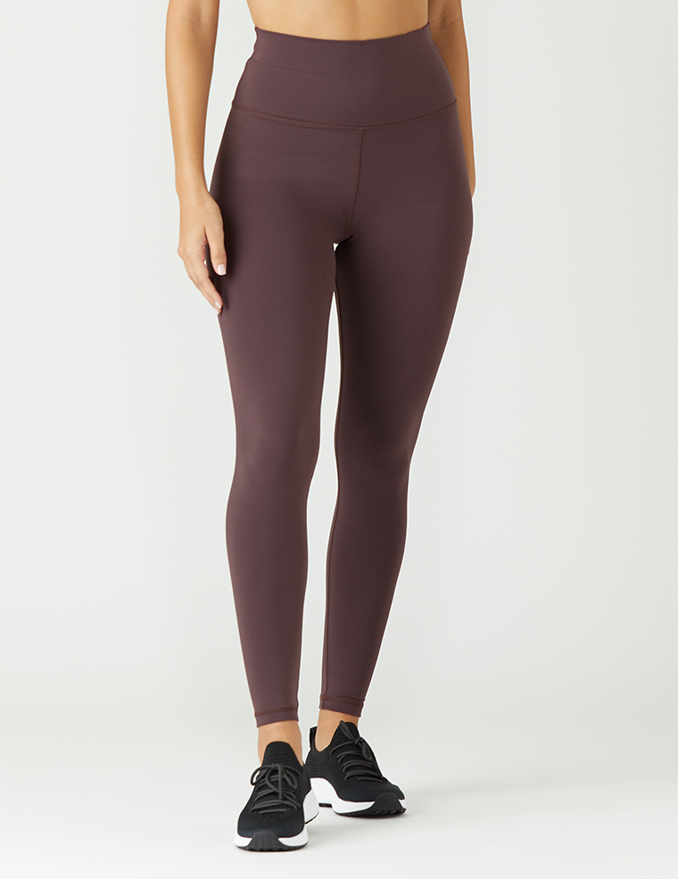 High Waist Pure Legging: Deep Plum