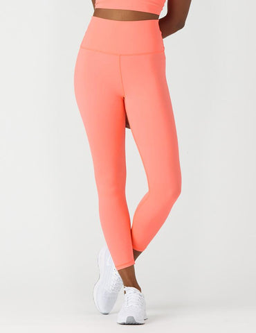 High Waist Pure 7/8: Hot Coral