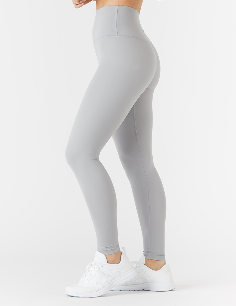 High Waist Pure Legging: Granite