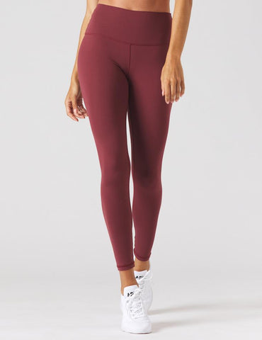 High Waist Pure Legging: Merlot