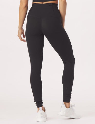 High Waist Pure Pocket Legging: Black
