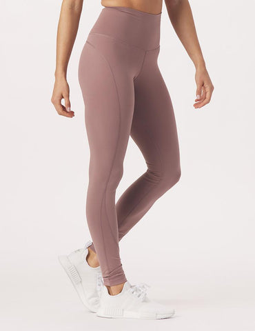 High Waist Pure Pocket Legging: Lavender Bark