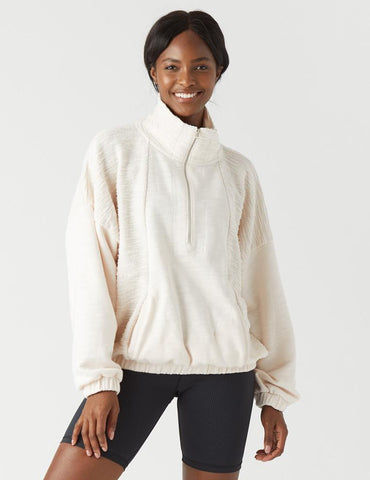 Complex Quarter Zip: Soft Blush