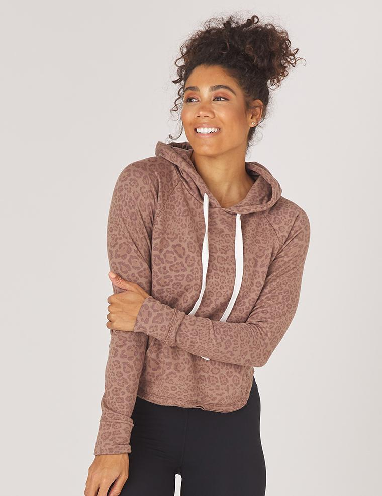 Rocky Hoodie: Cocoa Leopard Print