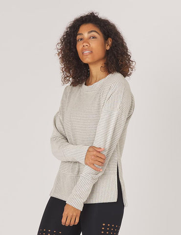 Shaker Knit Pullover: Oatmeal