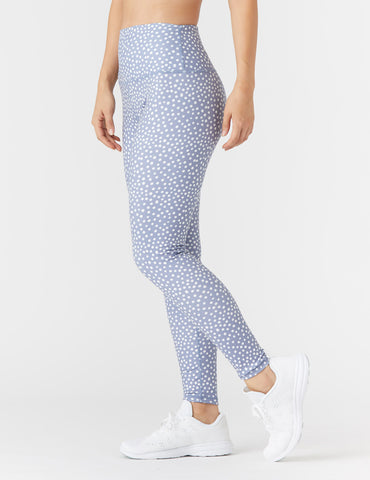 High Power Legging Print: Spotted Silver Bullet - Online Only