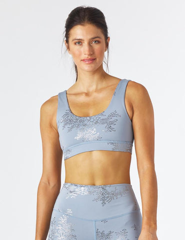 Splendid Bra: French Blue/Silver Lace Gloss