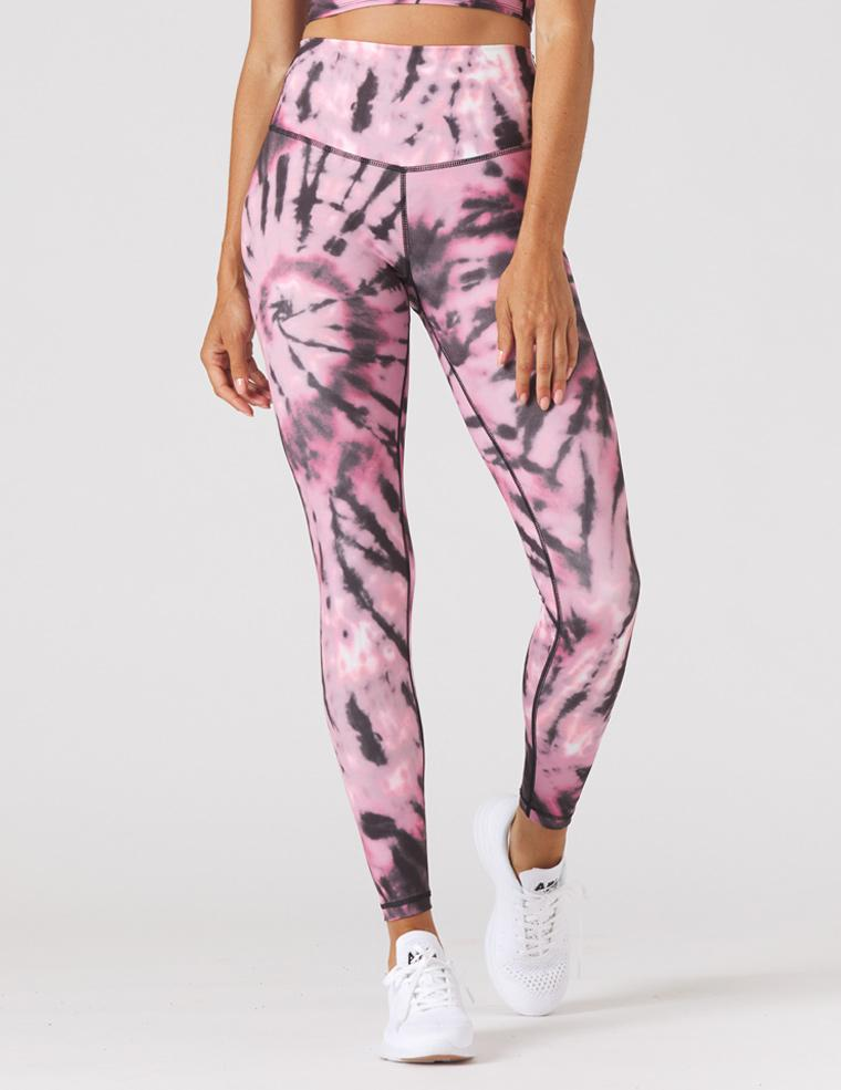 Sultry Legging Print: Berry Tie-Dye