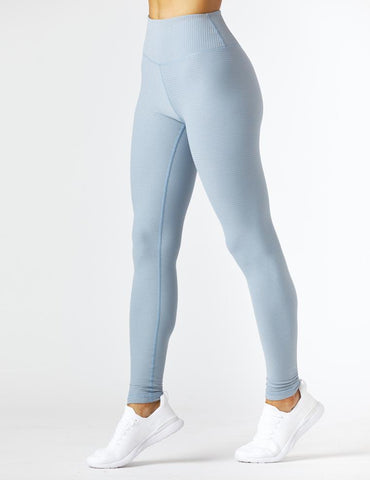 Sultry Legging: French Blue/Silver Shimmer