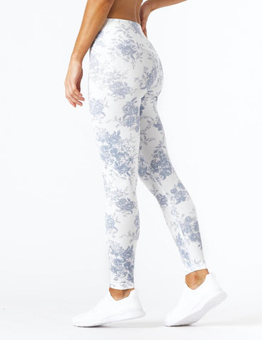 Sultry Legging Print: French Blue Toile