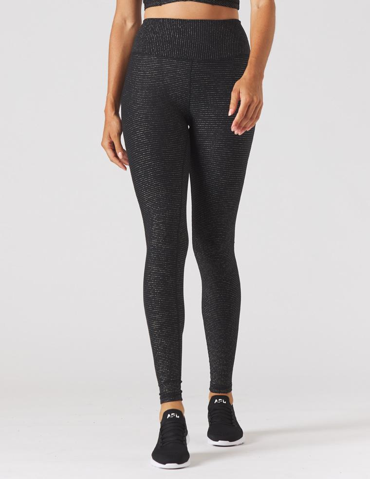 Sultry Legging: Black/Gold Shimmer