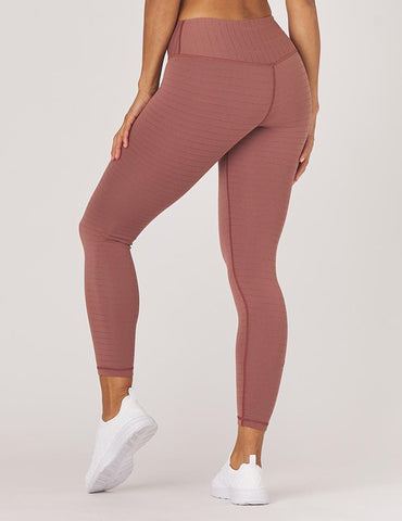 Sultry Legging: Cocoa / Rose Gold Shimmer Stripe