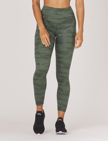 Sultry Legging Print: Olive Star Camo