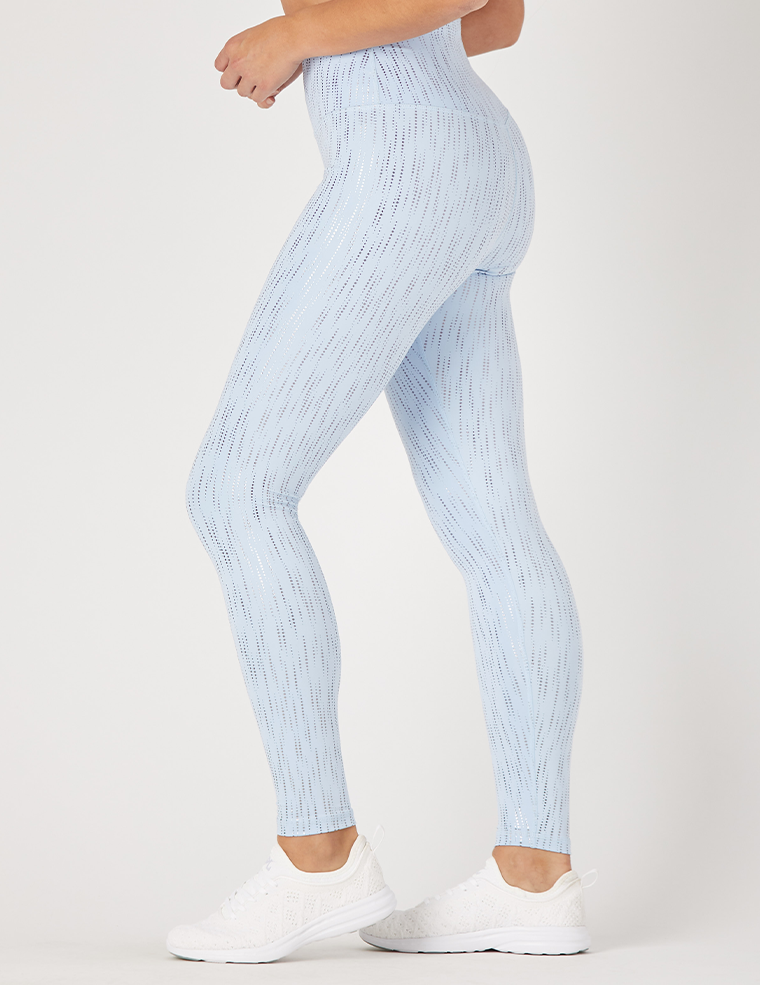Sultry Legging Print: Ice Blue / Silver Dew Drop Gloss