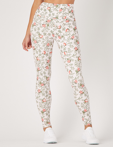 Sultry Legging Print: Strawberrry Vines