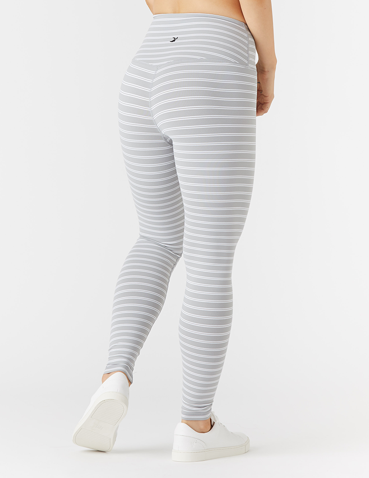 Sultry Legging: Granite / White Stripe
