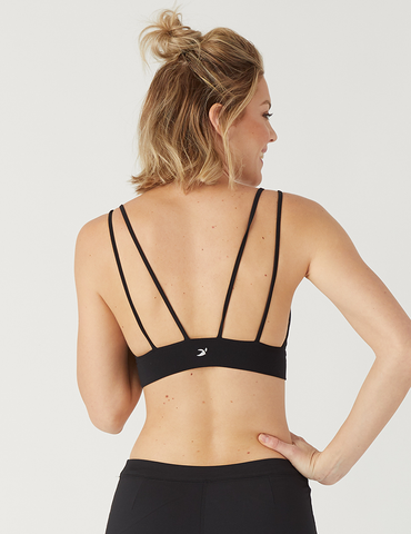 Sweetheart Sports Bralette: Black
