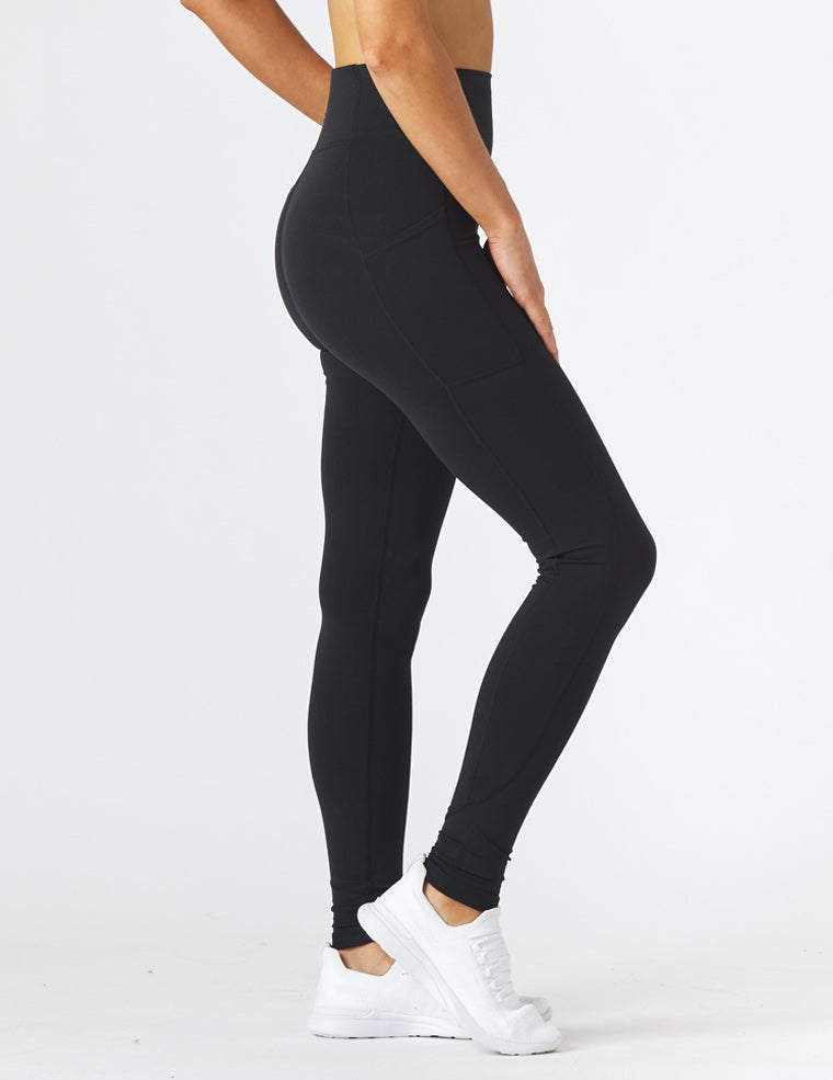 Taper Legging: Black
