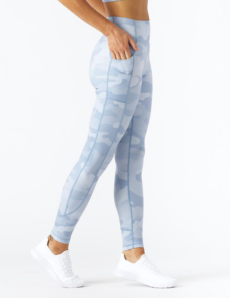 Taper Legging Print: French Blue Camo