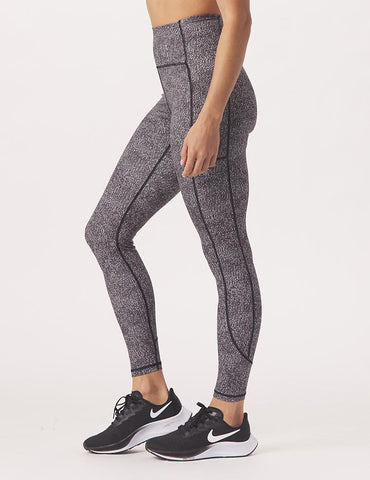 Taper Legging Print: Black Static