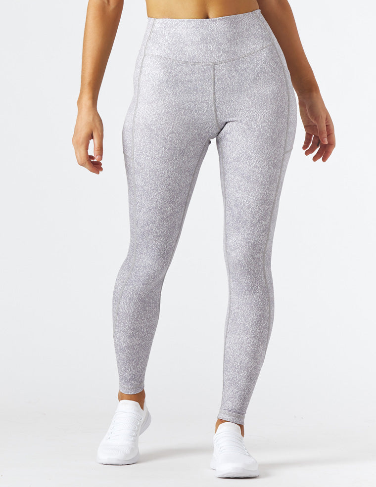 Taper Legging Print: Grey Static