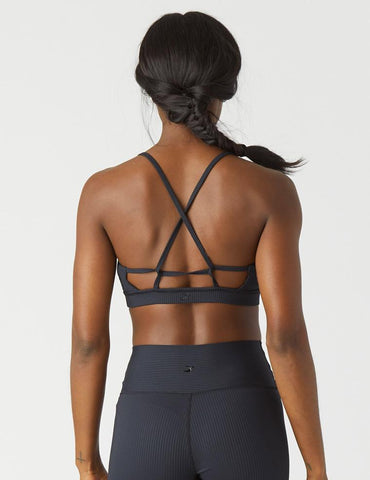 Tri-Back Bra: Black